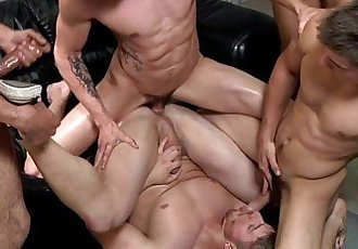 Hot gay orgy with Johnny Rapid and palsHD