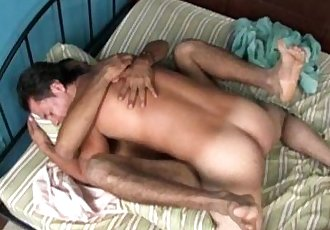 Two hot gay Mexican latino men fuck bareback