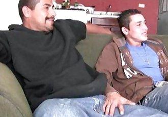 Hot straight latino guys suck each other big uncut verga and fuck raw