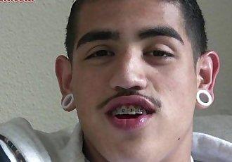 Cute Latino Straight boy jacking off