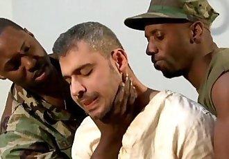 Black gay hunks spitroast white jockHD