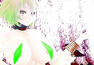 3D MMD Gumis Big Tittes Lots of Jiggle and Bounce - Gokuraku Jodo