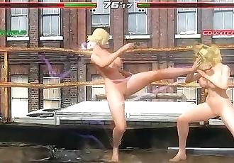 Dead or Alive Last Round Epic Battles #16 Naked B Jenet vs Naked Alisa KOF