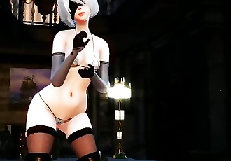 MMD NieR: Automata B2 the breast shirks