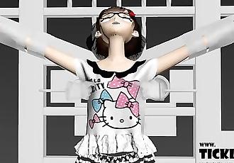 3D Anime Girl Nipple and Armpit Tickle