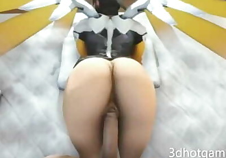 3D POV Overwatch sex with beautiful Angel