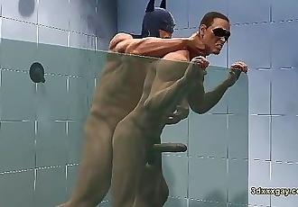 Robin and Batmans hot steamy shower sc