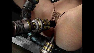 D الرسوم المتحركة الجنس الروبوتات - 2 مين