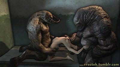 3D Monster Porn Animations - 1 min 14 sec