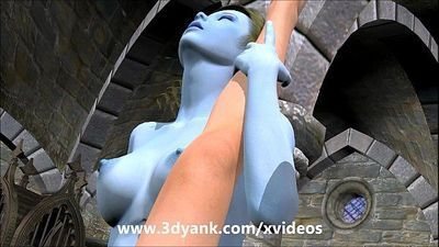 3D Anime Stripper gets banged by an outerspace couple - 6 min HD