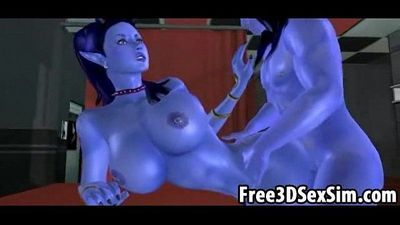 Sexy 3D cartoon avatar aliens doing the nasty - 11 min