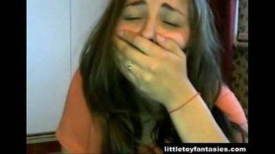 Cam Girl Tries Not to get Caught -littletoyfantasies.com - 4 min