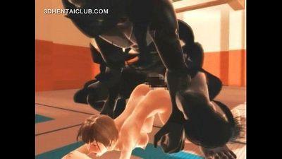 Anime karate girl fucking monsters giant penis - 5 min