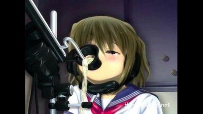 Petite anime cutie enjoys fucking machines - 5 min