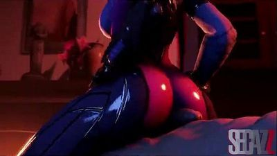 Widowmaker - Big Breasts - Naughty Machinima - 2 min