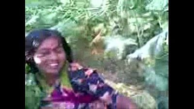 Desi village girl outdoor fucked by neighbor @ Leopard69Puma - 3 min
