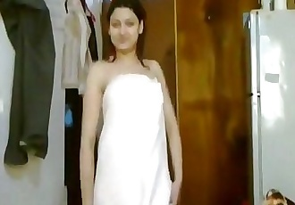 Indian Sexy Girl Dancing In Towel After Shower