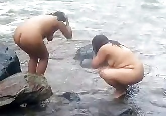 2992477 two indian mature womens bathing in river naked - 1 min 24 sec
