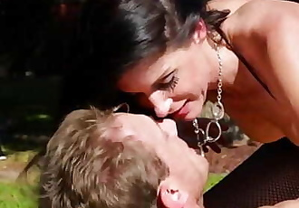 India Summer and her husband in the garden 6 min
