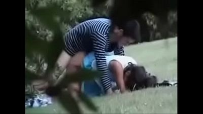 Cute girl dogy syte fucking outdoor park - 3 min