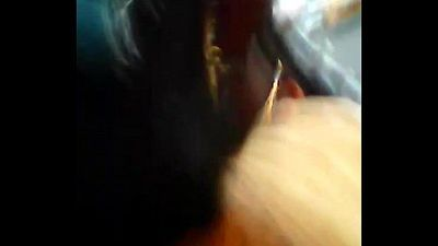 Theni school girl enjoying boob press in bus - 2 min