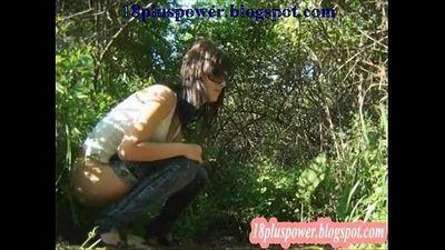 Woman spy hidden pee outside - 55 sec