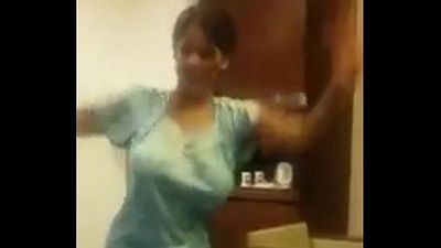Indian Aunty Dance With Big Boobs - 51 sec