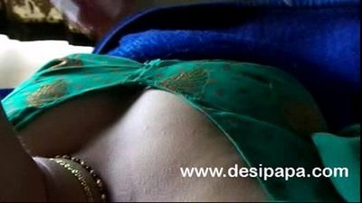 indian bhabhi open blouse bigtits pressed hard by husband - 1 min 16 sec