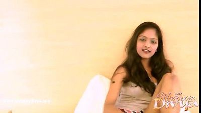 Hot indian girl Divya masturbating on cam - 2 min