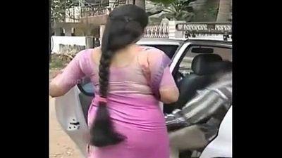 Serial actress Sukanya hot THICK long Hair Back View Side View - 30 sec