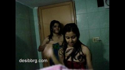 indian-two-hot-hostel-girls-enjoy-dancing-in-shower-getting-wet - 1 min 23 sec