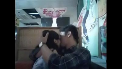 Desi lovers kissing in public in restaurant - 8 min