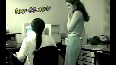 Delhi indian girls having sexual fun in office caught in camera - Teen99.com - 9 min