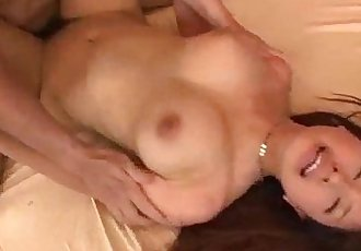 Buruma Aoi screams with two males fucking her - 12 min