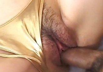 Haruna Ayase gets penis under golden thong - 10 min
