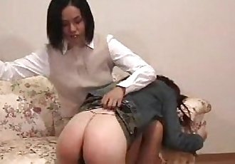 012 Cheeky Younger Sister Gets Spanking - 5 min