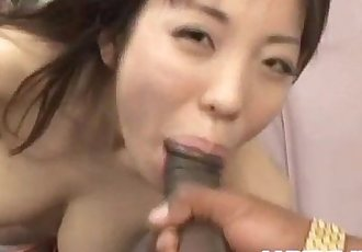 Mei Amazaki sucking dick in interracial - 10 min