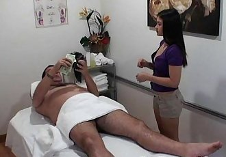 Young Masseuse Old Dude Get Freaky - 5 min