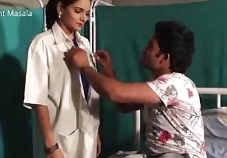 Hindi Lady doctor Shruti bhabhi romance with patient boy in blue saree hot scene - 18 min