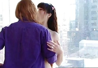 Hairy ginger and cute Asian lesbian amateurs - 14 min