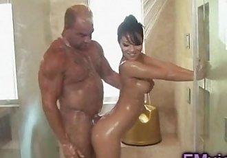 Asa Akira hot shower - 5 min