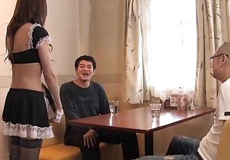 Asian waitress gives out a sizzling blowjob - 55 sec