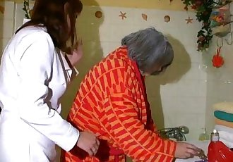 OldNanny Sexy nurse shower granny, Granny with grandpa have sex - 8 min HD