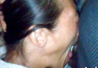 cumshot facial throatfuck mature Asian bitch nutted on her face - 3 min