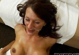 big tit milf fucks and sucks young cock