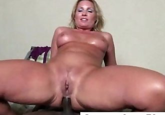 Mature interracial threesome gets dirty - 5 min