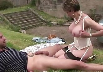 Mature Lady Sonia gets a cumshot - 5 min