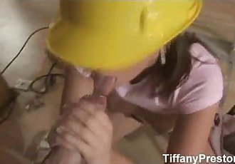 Busty contractor Tiffany gets jizz - TiffanyPreston - 4 min