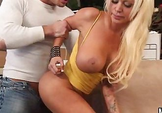 Petite Blonde Busty Sucks Young Cock Nikita Von JamesHD