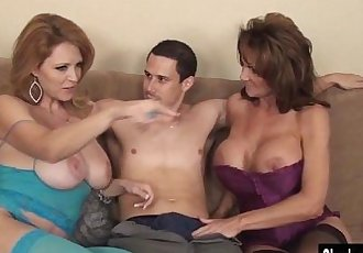 Charlee Chase Double Teams on Cock for MILF 3WayHD